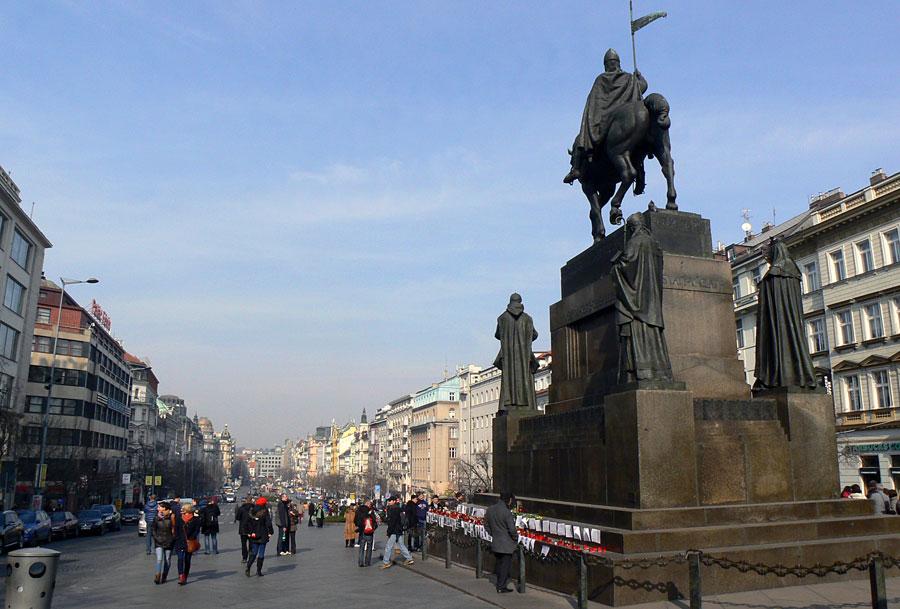 Blick über den Wenzelsplatz