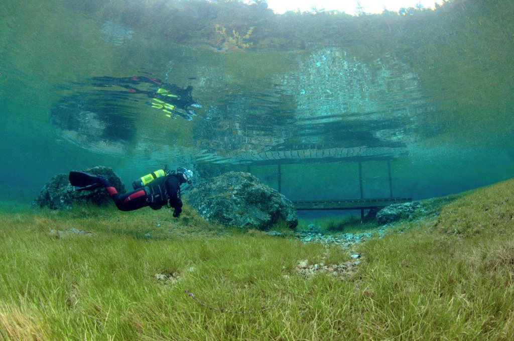 Tauchen Grüner See Tragöß, Foto: Heinz Toperczer