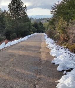 Vallicciola Monte Limbara Sardinien Schnee
